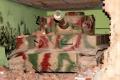 Картинка дом, стена, Тигр, танк, камуфляж, раскраска, кирпичь