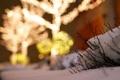 Картинка снег, город, огни