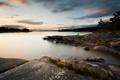Картинка пейзаж, закат, природа, озеро