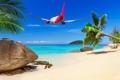 Картинка море, пляж, тропики, Самолет, beach, sea, tropics