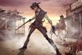 Картинка конь, игра, мужик, убийство, оружия, револьвер, patrick brown