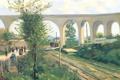 Картинка акведук, пейзаж, The Arcueil Aqueduct at Sceaux Railroad Crossing, Арман Гийомен, картина