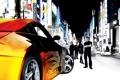 Картинка машина, фильм, улица, вывески, актёры, Nissan, 350z