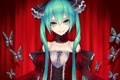 Картинка девушка, бабочки, платье, Hatsune Miku, Vocaloid