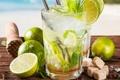 Картинка ice, drink, mojito, cocktail, lime, мохито, mint