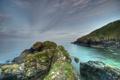 Картинка океан, скалы, берег, горизонт