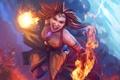 Картинка огонь, ярость, Slayer, Dota 2, Lina