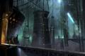 Картинка мост, сооружение, ангар, солдаты, гигантское, Destiny, ConceptArt