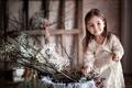 Картинка цветы, ребенок, девочка, улыбки