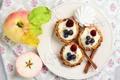 Картинка яблоки, десерт, пирожные