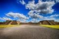 Картинка облака, Мексика, голубое небо, Теотиуакан пирамид