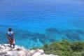 Картинка море, птицы, скалы, берег, человек, nature, Aride Aride Island