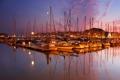 Картинка закат, город, яхты, катера, Plymouth, England, яхт-клуб