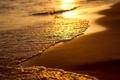 Картинка песок, пляж, закат, вода, море