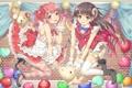 Картинка шарики, девушки, игрушка, чулки, аниме, медведь, арт