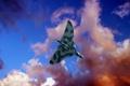 Картинка небо, облака, Avro Vulcan, Авро «Вулкан», «летающее крыло», британский стратегический бомбардировщик средней дальности