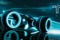 Картинка мотоциклы, TRON: Legacy, виртуальность, Трон