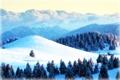 Картинка зима, лес, снег, горы