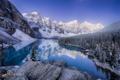 Картинка зима, горы, река, снег, природа