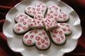 Картинка узоры, печенье, тарелка, сердечки, глазурь