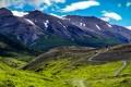 Картинка горы, тропа, ущелье, Чили, туристы, Patagonia