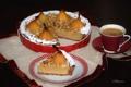 Картинка кофе, пирог, груша, десерт, выпечка, миндаль
