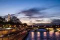 Картинка город, река, Франция, Париж, вечер, Сена, Эйфелева башня