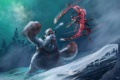 Картинка снег, оружие, монстр, арт, League of Legends, Irelia, Nunu