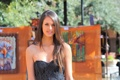 Картинка модель, девушка, Тiffany Thompson, милая, шатенка, парк, взгляд