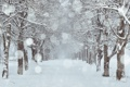 Картинка город, снег, улица