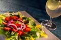 Картинка бокал, коктейль, овощи, салат