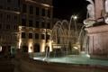 Картинка ночь, огни, дома, Германия, Бавария, фонтан, Ландсберг