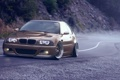 Картинка E46, горная дорога, BMW, stance nation, front, brown