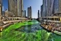 Картинка небо, люди, здания, Чикаго, зеленая вода