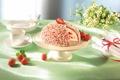 Картинка цветы, еда, клубника, сладости, торт, десерт, белый шоколад