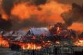 Картинка пожар, деревня, Ведьмак, The Witcher 3: Wild Hunt