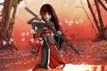 Картинка меч, сакура, самурай, девочка, Steve Sampson