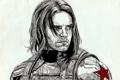 Картинка art, James Barnes, winter soldier, Captain America: The Winter Soldier, Sebastian Stan, мужчина