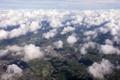 Картинка облака, дома, вид сверху