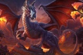 Картинка forest, dragon, elf, barbarian