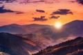 Картинка солнце, облака, холмы