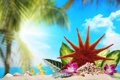 Картинка тропики, солнце, лето, summer, каникулы, море, sea
