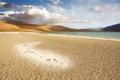 Картинка пляж, небо, облака, горы, озеро