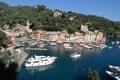 Картинка бухта, Портофино, Италия, дома, яхты