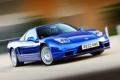 Картинка синий, фон, суперкар, honda, хонда, передок, nsx