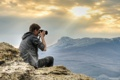 Картинка горы, романтика, фотограф, солнечные лучи