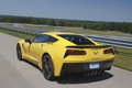 Картинка car, Corvette, Chevrolet, yellow, speed, Stingray