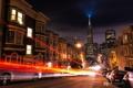 Картинка выдержка, Сан-Франциско, Kenji Yamamura, photographer, улица, огни