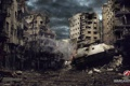 Картинка дом, Германия, разрушение, танк, танки, Germany, WoT