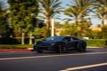 Картинка дорога, разметка, скорость, lamborghini, black, вид спереди, aventador
